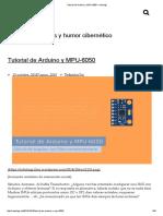 Tutorial de Arduino y MPU-6050 – Robologs