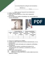 1er Cuestionario de Investigación y Reporte de Accidentes 15 a 30