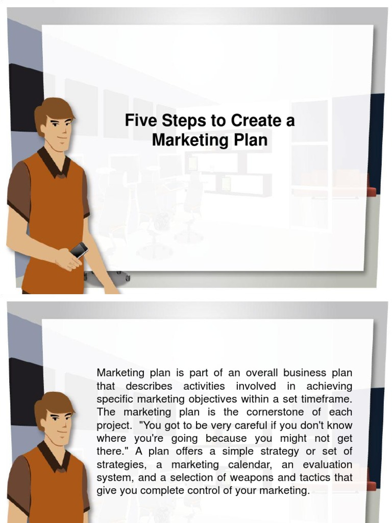 5 Steps To Becoming Wealthy: Five Steps To Create A Marketing Plan