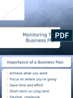 Monitoring a Business Plan