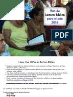 Plan de Lectura 2016
