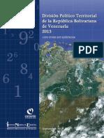 LA DIVISIÓN POLÍTICO-TERRITORIAL CON FINES ESTADÍSTICOS 2013