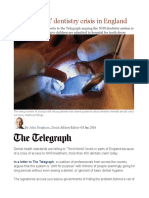 'Third World' Dentistry Crisis in England