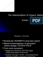 1. the Sedimentation of Organic Matter