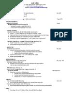 education resume updated
