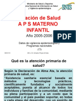 1.- APS Materna e Infantil