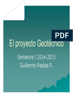 Planificación y ejecución del proyecto Geotécnico
