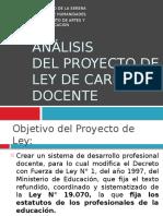 Análisis Del Proyecto de Ley de La Carrera Docente