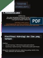 HIDROLOGI Kuliah I (Introductions)