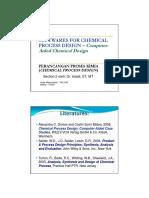 Perancangan Proses Kimia 1
