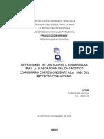 DIAGNOSTICO COMUNITARIO. DEFINICIONES
