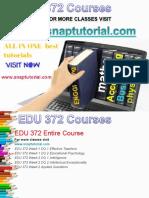 EDU 372 Academic Success /snaptutorial