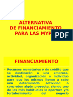 Alternativas de Financiamiento Para Las Mypes