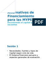 Taller Identificación de Alternativas de Financiamiento