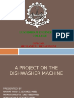 A Project on the Dishwasher Machine
