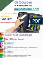 ENV 100ENV 100 Academic Success /snaptutorial