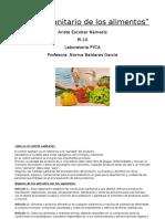 Control Sanitario de Los Alimentos