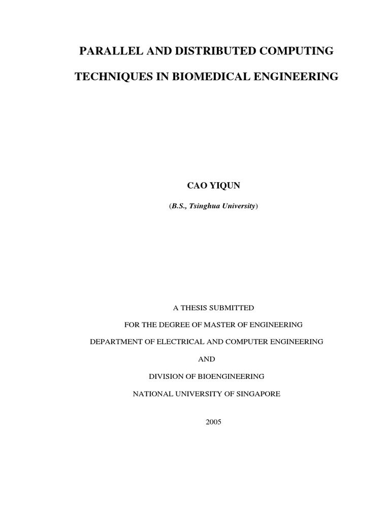 Master thesis parallel computing