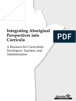 integrating aboriginal context into curricula