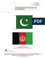 Sustainable Strategies for Afghanistan and the Region After 2014-Conference Papers