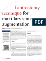 Lateral Antrostomy for Max Sinus Augmentation