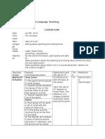 final project lesson plan