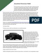 Dagang & Teknik Menyeleksi Persewaan Mobil