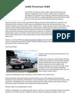 Usaha & Teknik Memilih Persewaan Mobil