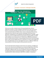 Web Services Test Automation - Framework,Challenges & Benefits