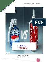 Project Report on comparitive study on pepsi and coca cola