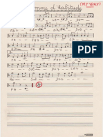 Sheets-Claude François & Jacques Revaux & Gilles Thibaut - Comme d'Habitude (My Way) (Slow) (Manuscrite Simplifiée)