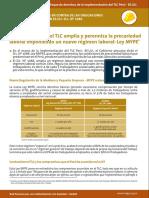 0. Implementación Del TLC Amplía y Perenniza La Precariedad Laboral Imponiendo Un Nuevo Régimen Laboral MYPE