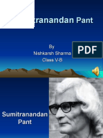 Sumitranandan Pant Ppt by Nishkarsh
