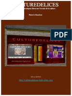 Culture Delices Brochure