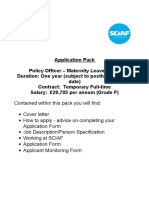 January 2016 Policy Officer Application
