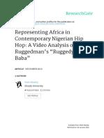 Representing Africa in Contemporary Nigerian Hip hop