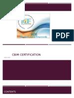 CBIM Certification