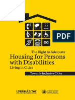 The Right to Adequate Housing for Persons With Disabilities Living in Cities
