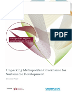Unpacking Metropolitan Governance for Sustainable Development