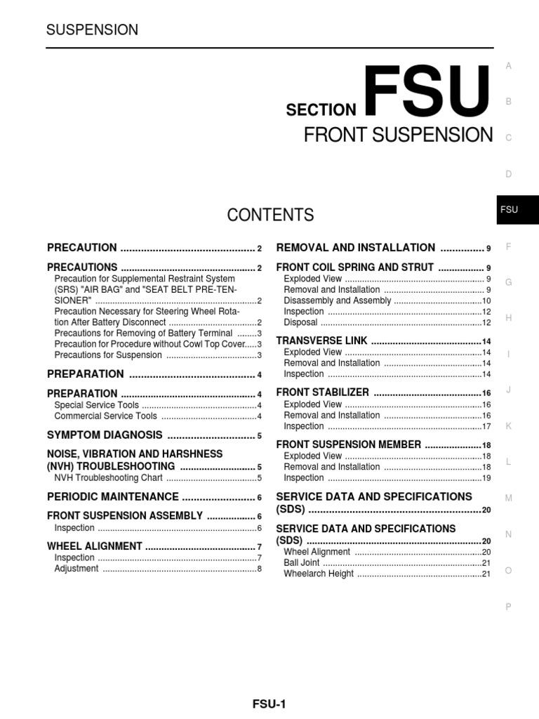 Service Manual Book Nissan Grand Livina