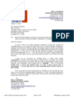 Advanced Media Group Letter to Jacquelyn Pfursich, Clerk of Court in Lancaster County January 6, 2016
