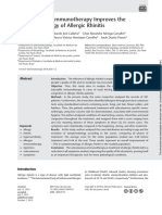 Subcutaneous Imunotheraphy Improves the Symptomatology of Allergic Rhinitis