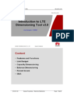 LTE Dimensioning Toola
