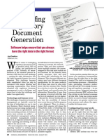Foolproofing Regulatory Document Generation