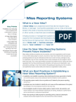 Near Miss Reporting Systems