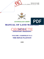 Australian Army Manual Land Warfare Rifle Platoon 1986 Full Obsolete