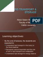 Lipid Transport & Storage