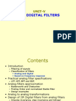 Dsp-unit 5.1 Analog Filters
