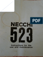 Necchi 523 Sewing machine Manual