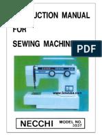 Necchi 3537 3577 Instruction Manual